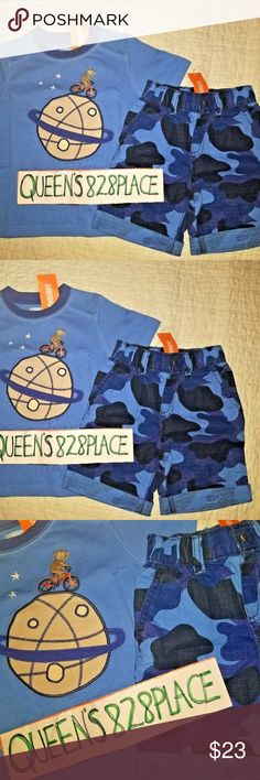 GYMBOREE BLUE TRICERATOPS  2-PC COSTUME 6 12 18 24 3T 4T 5T NWT