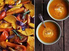 Suppe av bakte grønnsaker [Likte ikke. Hadde en søtlig smak som ble feil] Roasted Veg Soup, Fresh Eats, Souped Up, Pot Roast, Soups And Stews, Grain Free, Paleo, Ethnic Recipes, Food