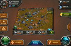 military Ipad game gui on Behance