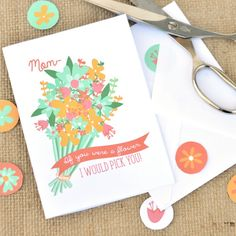The perfect Mother's Day card for any mom in your life! These free printable cards are sure to be a hit!