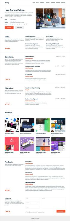 Our Work Speaks Louder Than Words - Web Design Inspiration Web - web developer resume sample