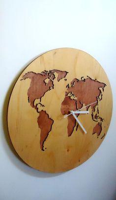 world map wall clock 157diameter modern laser cut