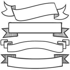 Banner Set SVG scrapbook banners svg cut filesbanners svg files free svgs free svg cuts clipart clip art