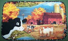 Cows on the Farm Mug Rug!    Damsel Quilts & Crafts