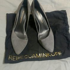 Rebecca Minkoff Brie pumps. Super cute and worn once on carpet.  Soles are perfect.  No scuffs no scratches. Includes box and dustbag.  Size 7.5. True to size.  Gorgeous shoes.  Please ask any questions! Rebecca Minkoff Shoes Heels