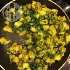 Recipe photo: Easy saag aloo