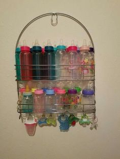 Shower caddy bottle storage