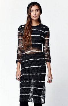 West Fest Stripe Crochet Dress