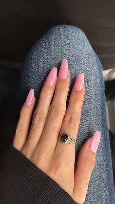 Pink acrylic nails, Acrylic nails coffin, Coffin nails Short acrylic nails, Coffin nails designs, Nails - natural summer nail designs you must see and try page 2 - Nails 2018, Nagel Gel, Best Acrylic Nails, Acrylic Art, Light Pink Acrylic Nails, Acrylic Nail Shapes, Acrylic Nails For Fall, Classy Acrylic Nails, Light Nails