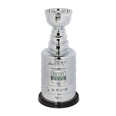 WAYNE GRETZKY Signed & Inscribed Replica Stanley Cup Trophy UDA LE 99 - Game Day Legends