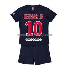 Paris Saint Germain PSG maillot de foot enfant 2018-19 Neymar Jr 10 maillot domicile Neymar Jr, Psg, Maillot Paris Saint Germain, Saints, Football, Unitards, Asylum, Soccer, Futbol