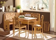 Kitchen: Pretty Kitchen Corner Dining Table Also Open Table Corner Kitchen Dayton from Sidle Up With Corner Booth Kitchen Table Furniture Corner Bench Dining Table, Kitchen Corner Bench Seating, Corner Kitchen Tables, Kitchen Benches, Open Table, Kitchen Booths, Dining Tables, Wood Table, Breakfast Nook Table Set