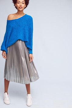 Slide View: 2: Draped Poncho Pullover