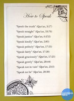 How To Talk According To Qur'an