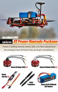 RC Helicopters with 4 Channels STORM Racing Drone GPS (RTF / NAZA V2) - HeliPal