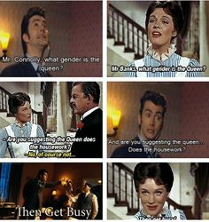 """:) the Doctor & Mary Poppins - """"practically perfect in every way"""" (also applies to David Tennant & Julie Andrews)"""