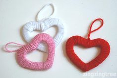 Yarn Heart Wreath