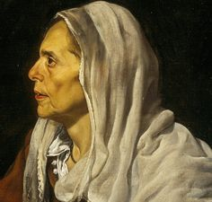 Diego Velazquez, Old Woman Cooking Eggs, detail Spanish Painters, Spanish Artists, Turbans, Diego Velazquez, Face Proportions, Painting People, Manet, Caravaggio, Everyday Objects