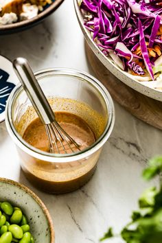 Creamy Asian Sesame Ginger Dressing made with soy sauce, sesame oil, vinegar, and honey. 5 minutes to make & perfect for Asian salads, chicken, and meat dishes. #asian #sesamedressing #saladdressing #asianvinaigrette #foolproofliving Asian Sesame Ginger Dressing Recipe, Asian Chicken Salads, Asian Salads, Ginger Sauce, Soy Sauce, Chicken Wing Marinade, Amazing Food Photography, Salad Dressing Recipes, Salad Dressings