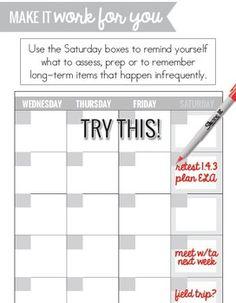 Planning Calendar For  School Year Free  Planners  Binders