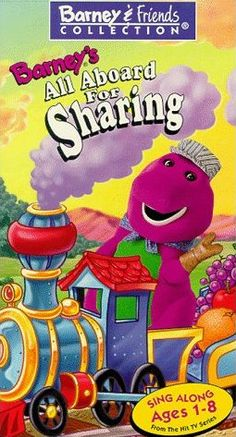Barney's All Aboard for Sharing #VHS #90s