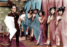 """safetylast: """" Harold Lloyd assists schoolgirls in purchasing corsets - Here Come The Girls """" Harold Lloyd, Pre Code, Colorized Photos, Silent Film Stars, Old Hollywood, Time Travel, The Twenties, Actors, Black And White"""