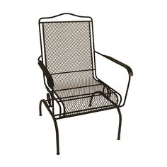 Garden Treasures Davenport Black Steel Mesh Spring Motion Stackable High-Back Patio Dining Chair | Lowes | $69