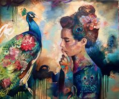 A celebrated artist by the age of 15, Dimitra Milan's paintings reflect a dreamy world where anything is possible and fearless subjects harmoniously coexist