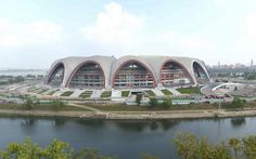 Perhaps unsurprisingly, North Korea is also home to the largest sports arena in the world, May Day Stadium. Architecture Photo, Modern Architecture, Inside North Korea, High Rise Building, Built Environment, Countries Of The World, Skyscraper, Tours, Country