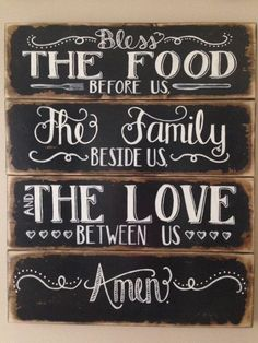 24 x 29 Bless the Food before Us The Family by DesignsbyRhondaLynn by angie