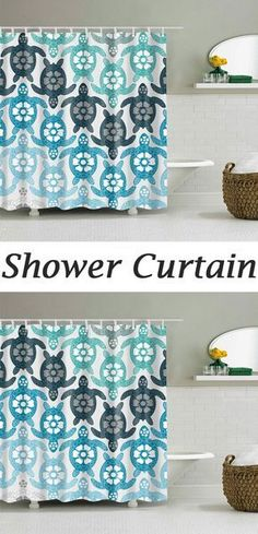 Eco-Friendly Tortoise Extra Long Shower Curtain