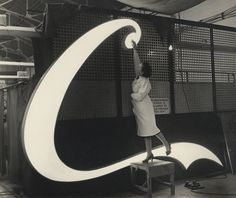 the making of Coca-Cola neon sign, 1954