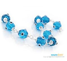 Evil Eye Bracelet with Crystal Evil Eyes