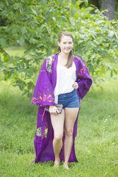 """Boho-Chic"" Kimono jacket in Big Butterfly pattern"