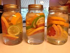 Fruit infused water... in Mason jars!