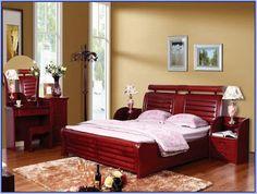 غرف نوم أثاث احمر