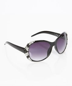 Love this Black & Silver V.I.P. Sunglasses by Sunlily on #zulily! #zulilyfinds