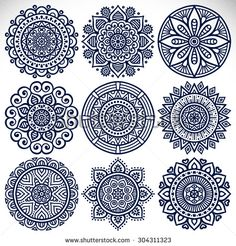 "Képtalálat a következőre: ""pakistani textile patterns"" Vintage decorative elements with mandala.Mandala Fotos, imagens e fotografias StockFind indian pattern Stock Images in HD and millions of other royalty-free stock photos, illustrations an Mandala Art, Mandala Design, Mandalas Painting, Mandala Drawing, Mandala Pattern, Dot Painting, Indian Mandala, Indian Henna, Flower Mandala"