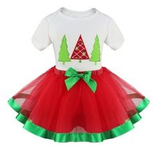 2015 New Girls Kids Baby Christmas Tree Santa Claus Reindeer Outfit Clothes Top T Shirt Tutu Skirt Set Dress Up Costume 12M-5Y(China (Mainland))