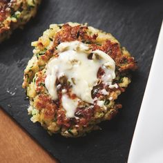 Zucchini Fritters with Caper Butter