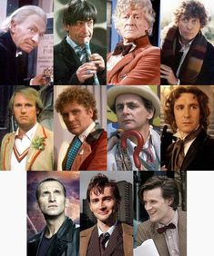 The Eleven faces of the Doctor.