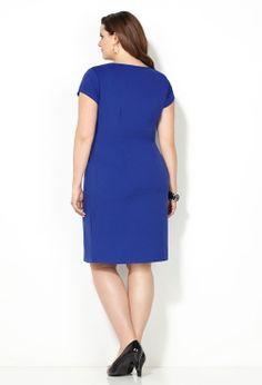Royal Blue Sheath Dress-Plus Size Dress-Avenue