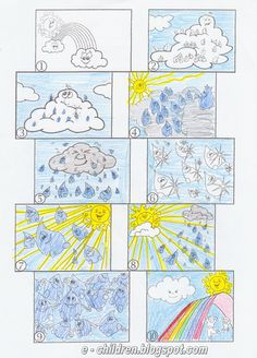 Los Niños: Ο ΚΥΚΛΟΣ ΤΟΥ ΝΕΡΟΥ σε 10 καρτελίτσες Weather Crafts, Water Cycle, Science Experiments, Clip Art, Kids Rugs, Quilts, School, Speech Therapy, Teaching Ideas