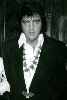 With members of the British fan club in Las Vegas on September 4, 1972 before his dinner show that night
