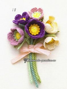 Watch The Video Splendid Crochet a Puff Flower Ideas. Phenomenal Crochet a Puff Flower Ideas. Crochet Bouquet, Crochet Brooch, Freeform Crochet, Irish Crochet, Crochet Motif, Crochet Yarn, Crochet Stitches, Crochet Flower Tutorial, Crochet Flower Patterns