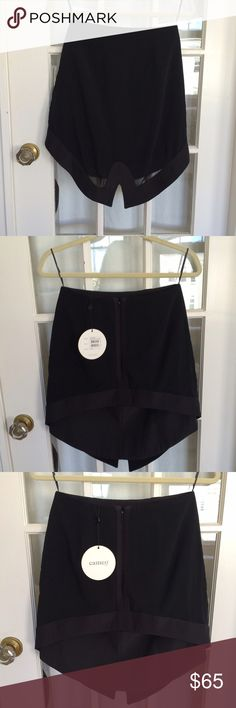 """Cameo """"mountain sound"""" skirt Black fitted skirt, fully line with a sheer overlay that creates a tiered hem. Never worn - brand new with tags! Cameo Skirts Mini"""