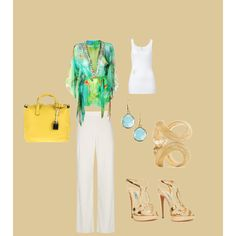 summer evening, created by pnpkast on Polyvore