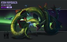 Rayquaza– The Sky High Pokémon. Pokedex Number – 384 Type – Dragon/Flying In Hoennian lore, there are few Pokémon as revered as Rayquaza. A colossal serpent Pok&eacu...