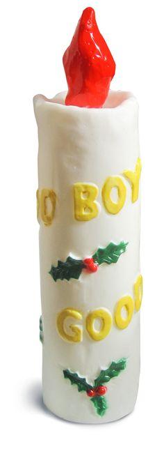 Candela decorativa natalizia. http://www.recordit.com/