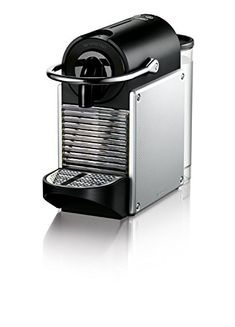 Nespresso Pixie Espresso Machine by De'Longhi, Aluminum.  Nespresso Pixie by De'Longhi has a 19 bar high-weight pump that takes into consideration a barista-style result, opening the sensitive kind of every espresso case; Designed for use with Nespresso capsules The quick warmth up framework achieves the perfect temperature in only 25 seconds. The machine naturally kills following 9 minutes, expending less energy The one-touch catches with two mug limits (Espresso and Lungo) can be re...